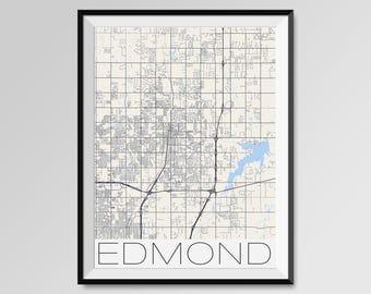 Edmond city map Etsy