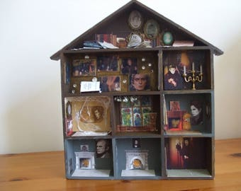 Collinwood from Dark Shadows: Miniature House with Original Portraits