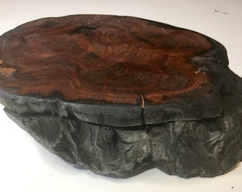 ON SALE Rare Handcrafted Redwood Box - Very limited supply