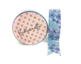 Blue Hawaii Floral Washi Tape
