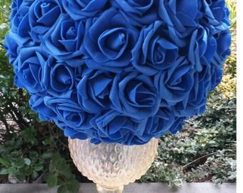 810121416 18 wedding kissing ball blue