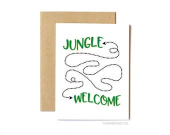 Funny Anytime Card, Guns 'n Roses, Welcome to the Jungle, Friendship