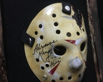 Friday the 13th Jason voorhees signed mask