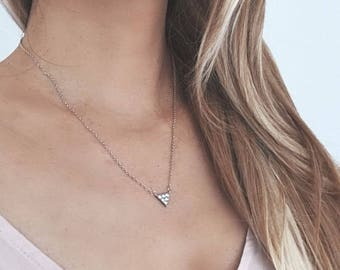 Triangle Silver 925 Necklace with Cubic Zirconia