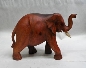 Elephant wood carving (#elfnt13)