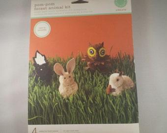 Martha Stewart Pom-Pom Forest Animal Kit