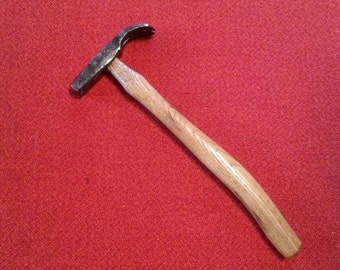 Antique Tack Hammer Vintage Claw Hammer Farrier Hammer Blacksmith Forged Wood Handle