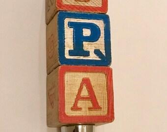 Alphabet Tap Handle