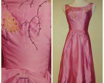 Clearance *** Fun Vintage Bubblegum Pink Beaded Dress