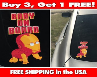 Baby On Board, Ironman Baby Bumper Sticker