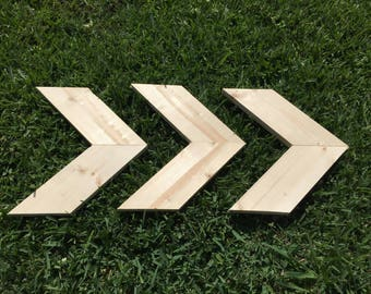 Unfinished Chevron Arrows (Set of 3)!