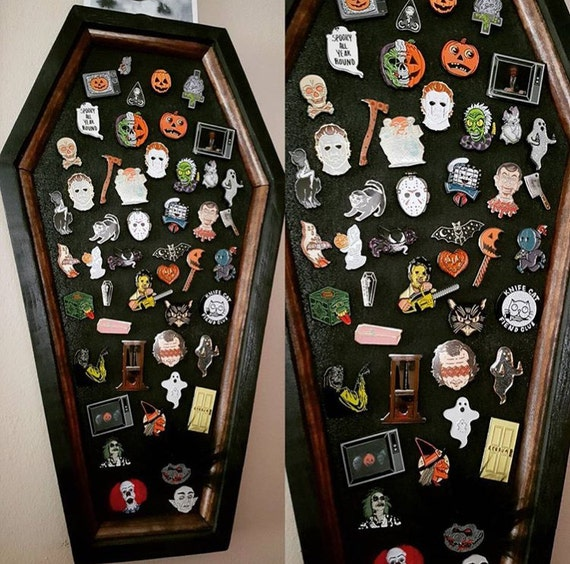 coffin pin board lapel pin display lapel pin enamel pin