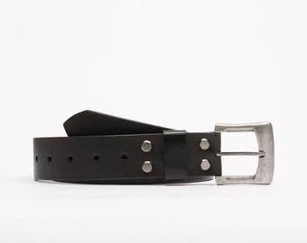 Perforated leather belt // Nixon