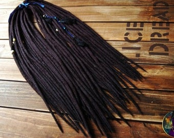 Wool black dreads double ended custom dreadlocks