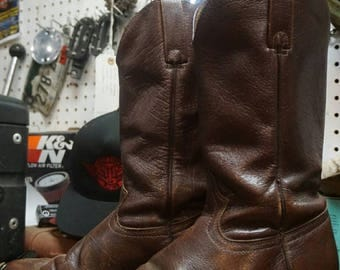 Brown Leather Mens Boots size 8.5