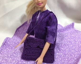 Perfect Purples  Barbie Clothes Set: Outfit #2/Dress, Jacket, and Purse