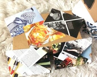 Pack of 5 upcyled magazine envelopes!