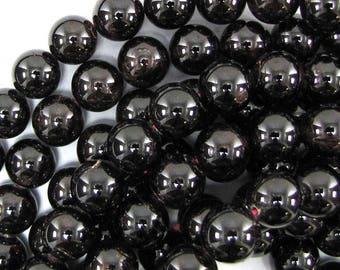 "13mm red garnet round beads 15.5"" strand 30856"
