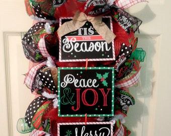 Christmas Swag, Christmas Wreath, Christmas wreaths, christmas swags, red and greeen christmas wreath, wreath, swag, christmas wreaths