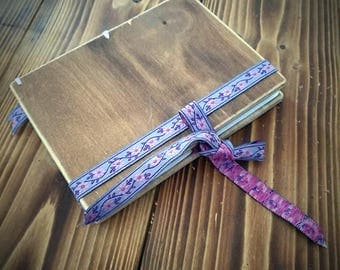 Wooden Homemade Note Book, Hand Crafted, from Recycled Paper and Wood