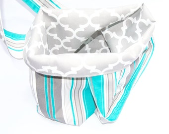 Medium Market Bags - Stripes & Fulton Gray