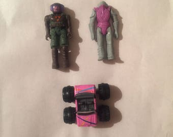 Misc. 1980s Action Figure & Toy Lot: Starcom, Air Raiders, and Micro Machines