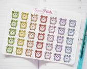 Alarm Clock Planner Stickers | Stationery for Erin Condren, Filofax, Kikki K and scrapbooking