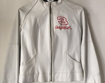Wilsons motorcycle jacket from real leather soft&genuine leather, steep jacket modern jacket short jacket vintage white women's size-small.