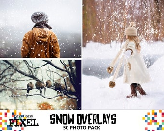 SNOW & ICE Photoshop Overlays, Photoshop Overlay, Snow Overlays, Winter Overlays, New Years, Holidays, Snow, Ice Overlays, Christmas