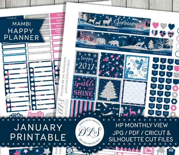 Impertinent image with happy planner monthly layout printable