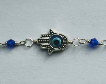 Handmade Hamsa Silver Bracelet