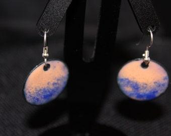 Enameled Copper Earrings #121916-002