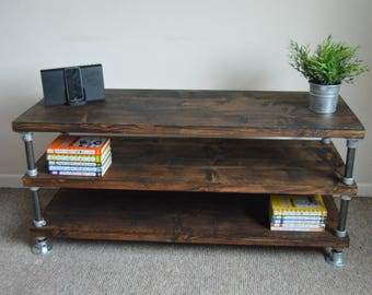 Industrial Reclaimed Loft style TV Unit/ TV Stand/ TV Console