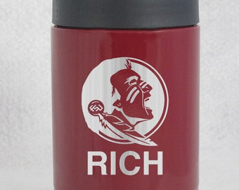 12 oz maroon YETI colster Florida State Seminoles custom engraved personalized Valentines Christmas Birthday Gift Authentic