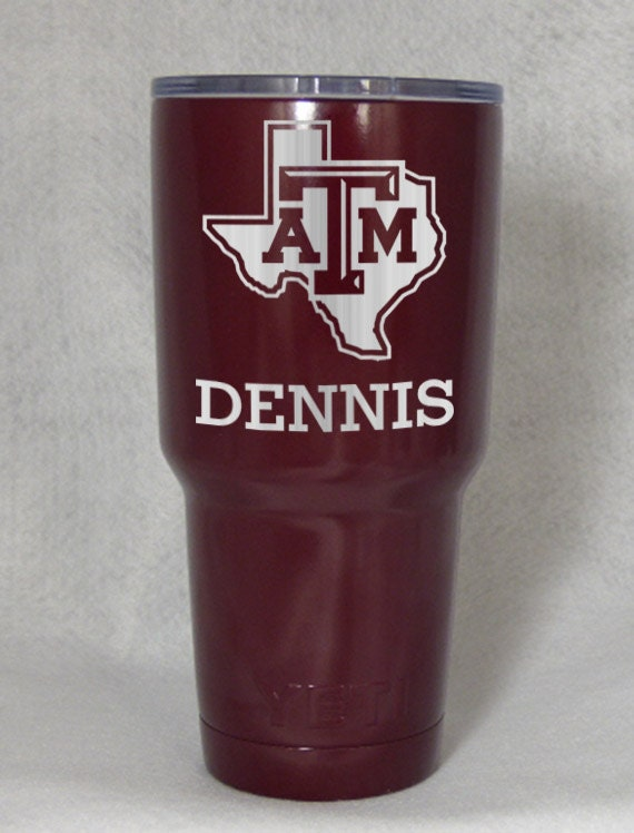 Texas A Amp M Aggies Yeti Custom Engraved Cup Tumber 30 Oz Powder