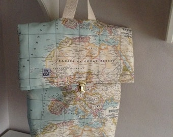 Backpack of fabric.   Fabric Bagpack