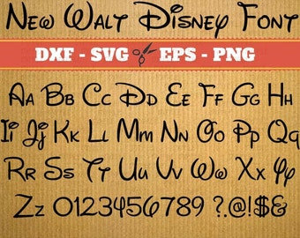 Walt Disney Font svg files download; Svg, Dxf, Eps, Png; Alphabet letters, Calligraphy printables, Cursive Disney Svg Font, font svg, Cricut