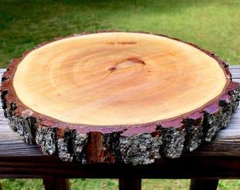 Rustic wood slice! 8 inch wood slice, wedding centerpiece, rustic home decor, table centerpiece, table center piece, wood center piece!