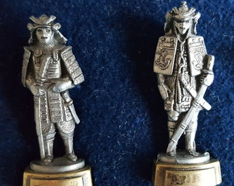 Tin Toys,Vintage toys,Japanese samurai,17-th - 19 th Century,set of 6, ENGLAND, Vintage tin toys,Tin miniatures,Miniature military figurines