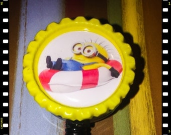 Retractable Minion Swimming Name badge ID Lanyard Pull