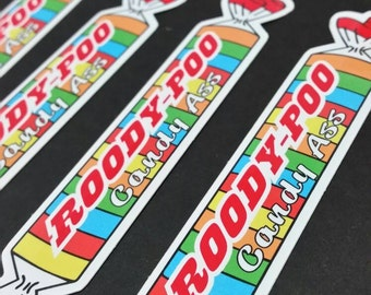 Roody-Poo pin + Sticker combo