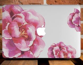 Flover Peonies Case MacBook Cover MacBook Air 13 Mac Pro Retina 13 Case MacBook 12 Cover MacBook Pro Case Mac Pro Retina 13 Hard Case WCm010