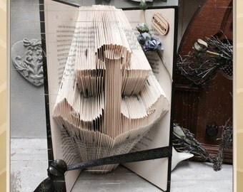 Folded book art - Anchor - book art