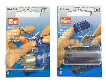 2PCS/Set 2 yarn/4 yarn guides Prym Strick-Fingerhut Knitting Thimble