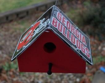 University Of Georgia Bulldogs License Plate Birdhouse