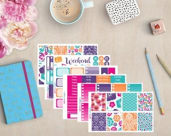 Summer Hibiscus| Weekly Kit Planner Stickers | FWK | Erin Condren | Happy Planner