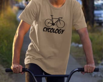 "Cyclist ""Cycology"" print T-shirt, Cycology print, Cyclists printed T-Shirt, ""Cycology"" T-Shirt, T-shirt with Cycology print, Cyclists shirt."