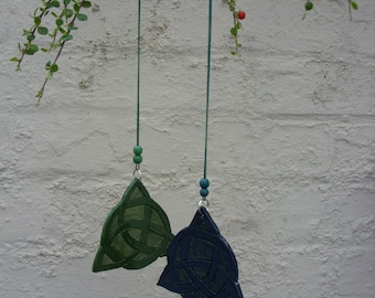 Handcrafted Ceramic Triquetra Celtic Knot Hanging Decoration