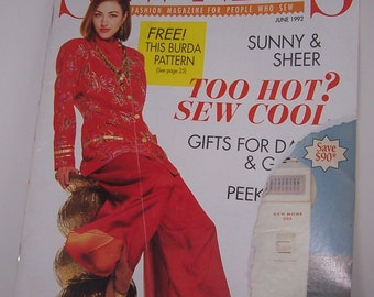 Sew News Magazine Back Issue June 1992 Vintage