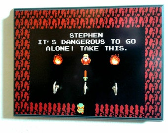 Ready to Ship! Custom Name Legend of Zelda Key Holder